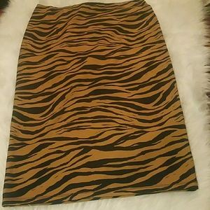 Zara Stretch Zebra Print Skirt
